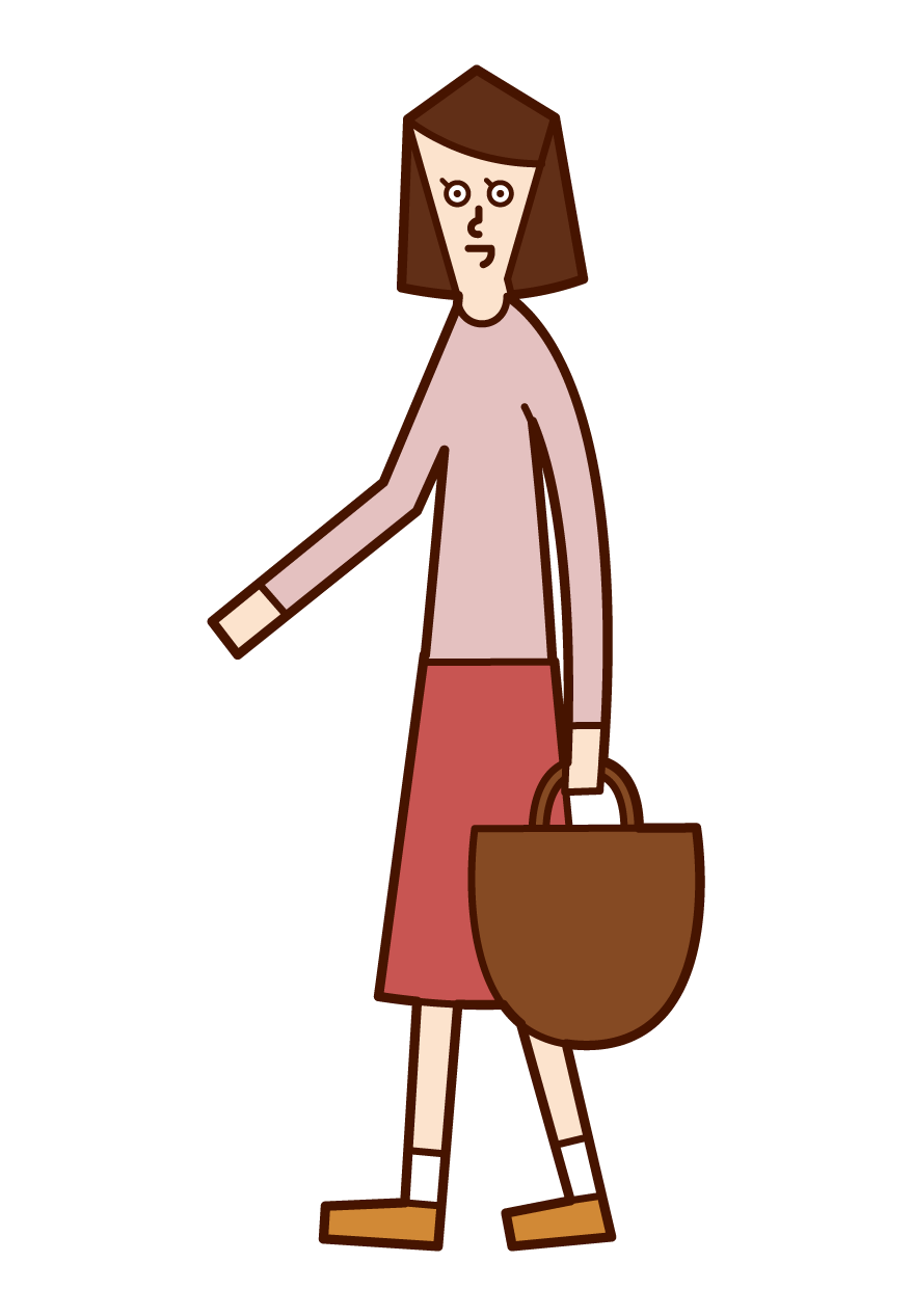 Illustration of a walking person (woman)