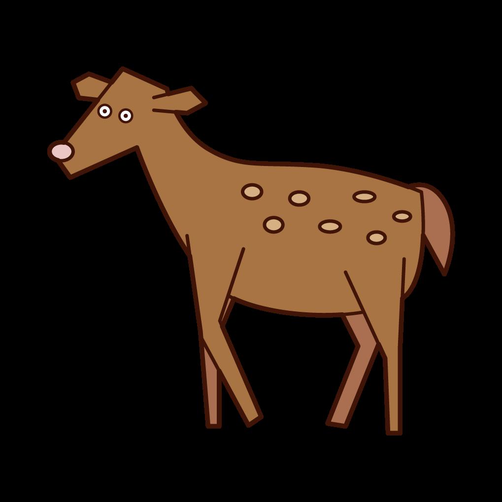 鹿のイラスト