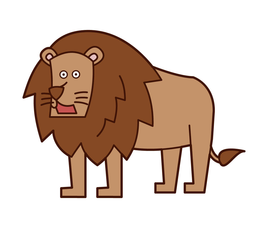 man Lion Illustration