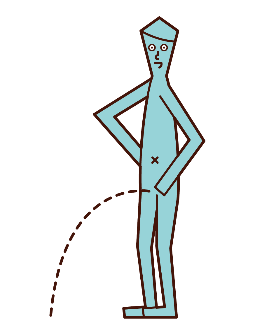 Illustration of a statue of a