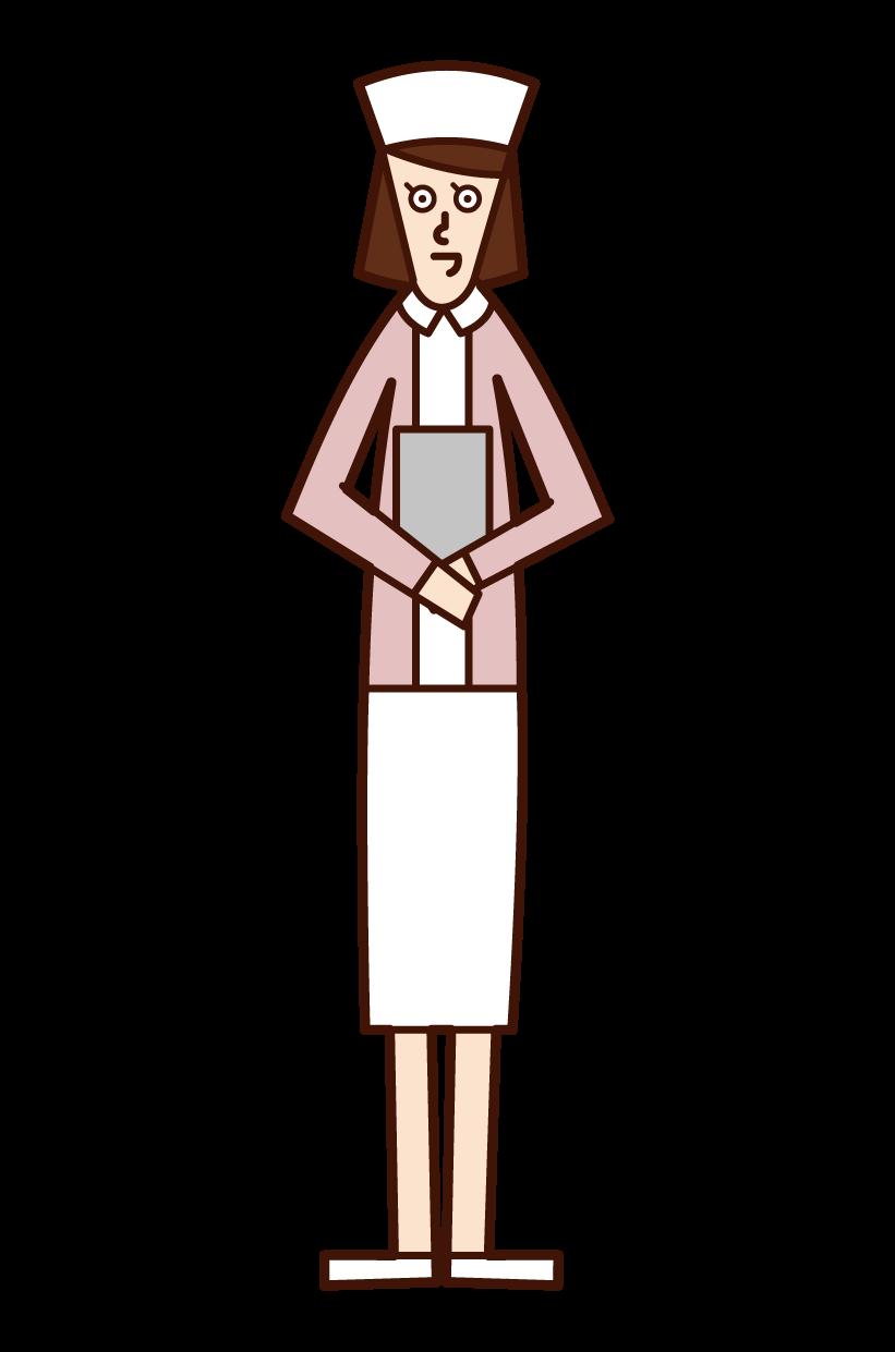 看護婦(女性)のイラスト