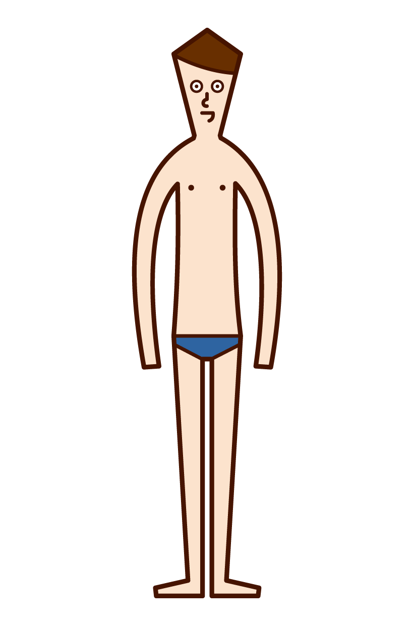 Illustration of a man in a swimsuit