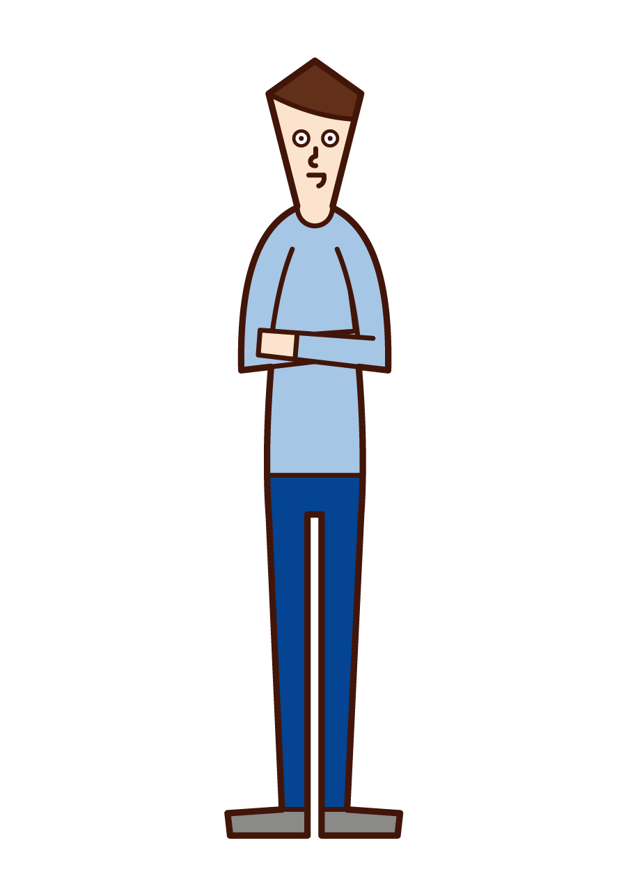 Illustration of a man arm in his arm