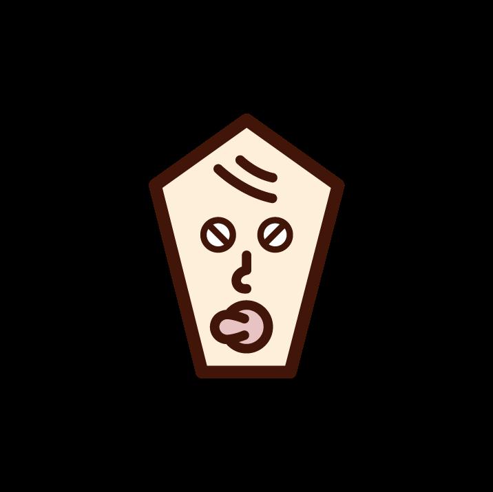 怒る赤ちゃんの顔のイラスト