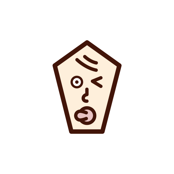 Illustration of a baby's face winking