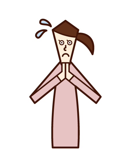 Illustration of a woman who asks hard