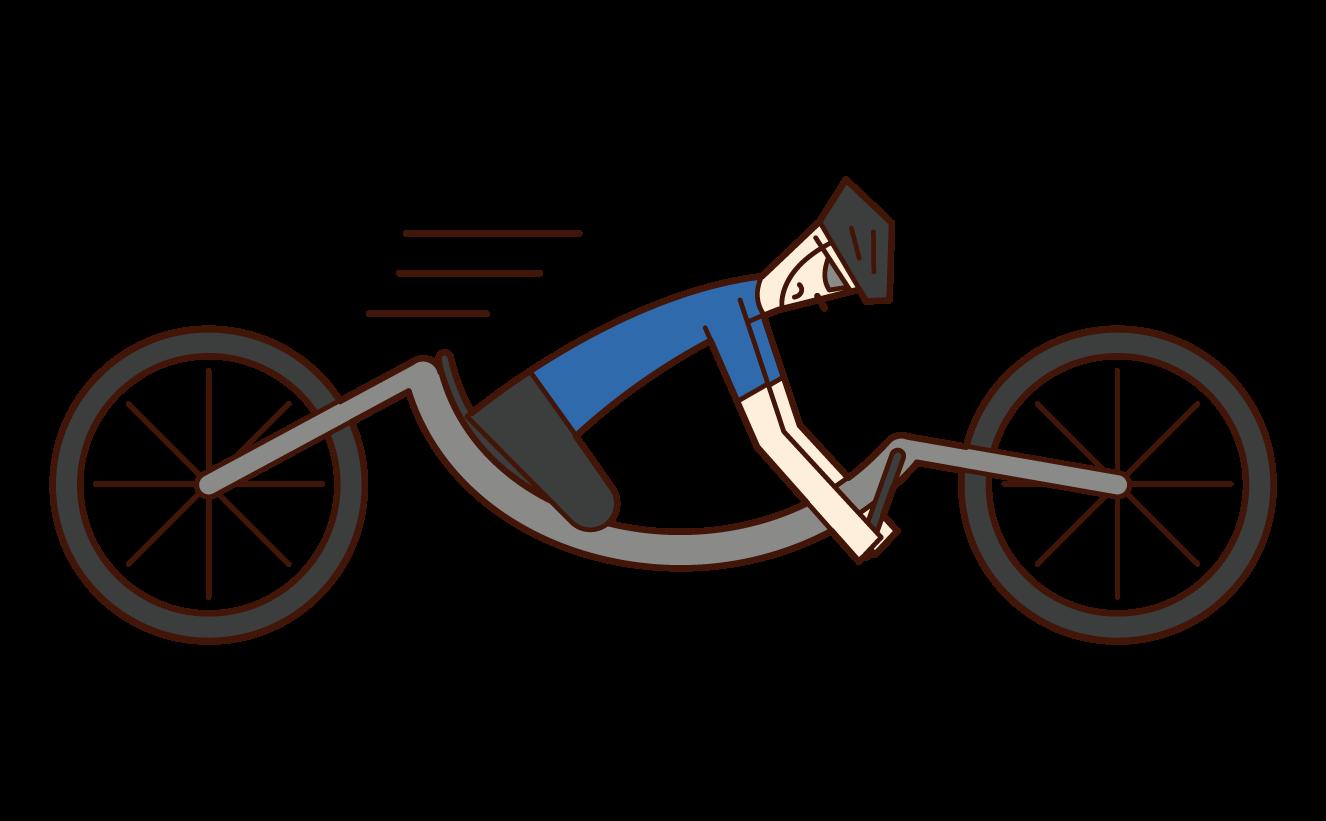 殘奧會自行車運動員(男子手自行車)的插圖