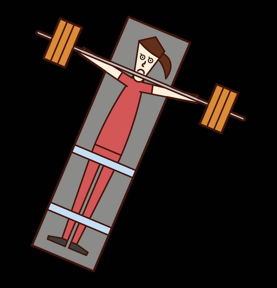 패럴림픽 에서 파워 리프팅 선수 (여성)의 그림
