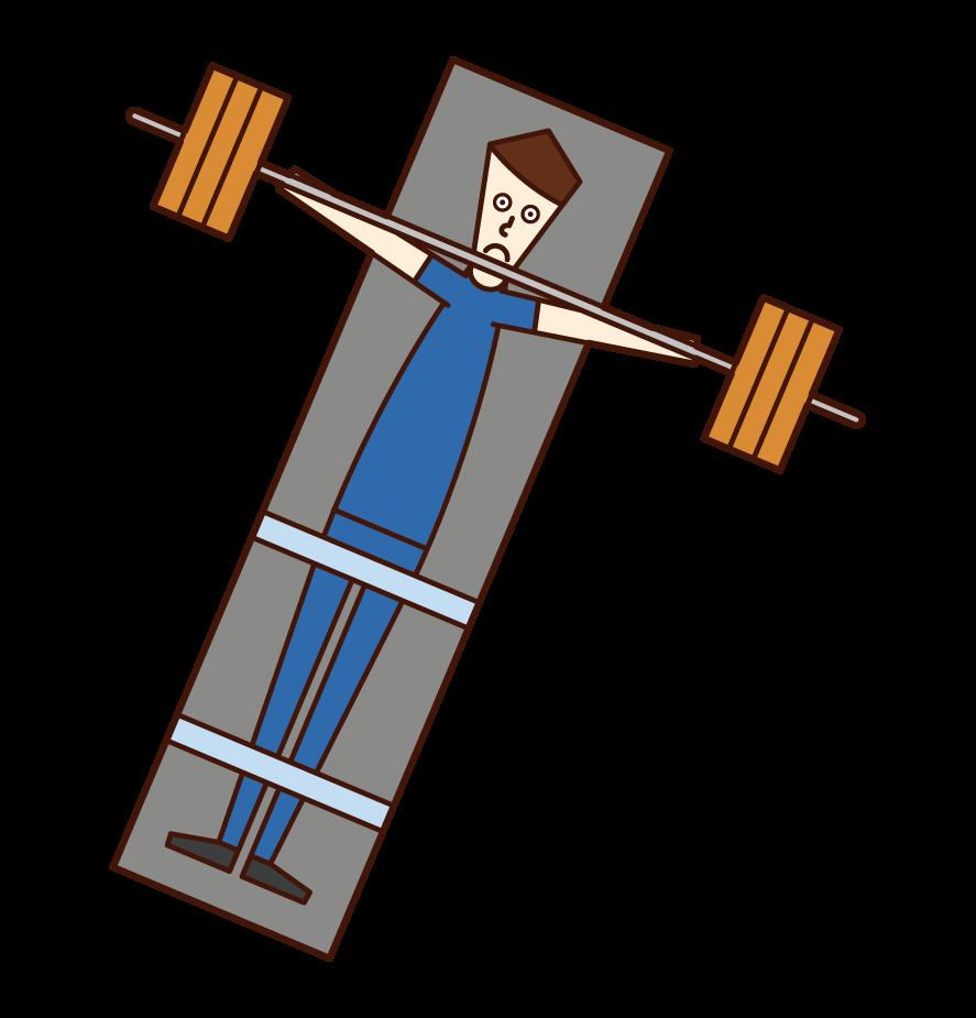 패럴림픽 에서 파워 리프팅 선수 (남성)의 그림