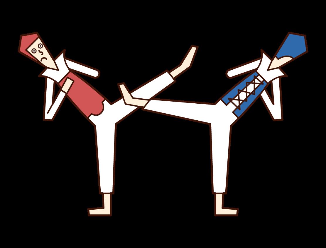 Illustration of Taekwondo (man) at the Paralympic Games