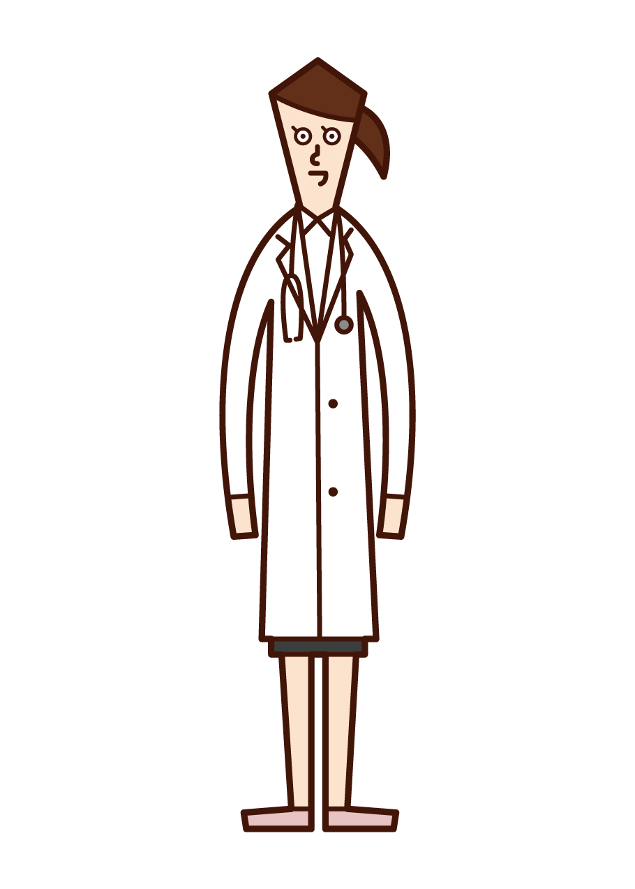 Illustration of a doctor (woman)