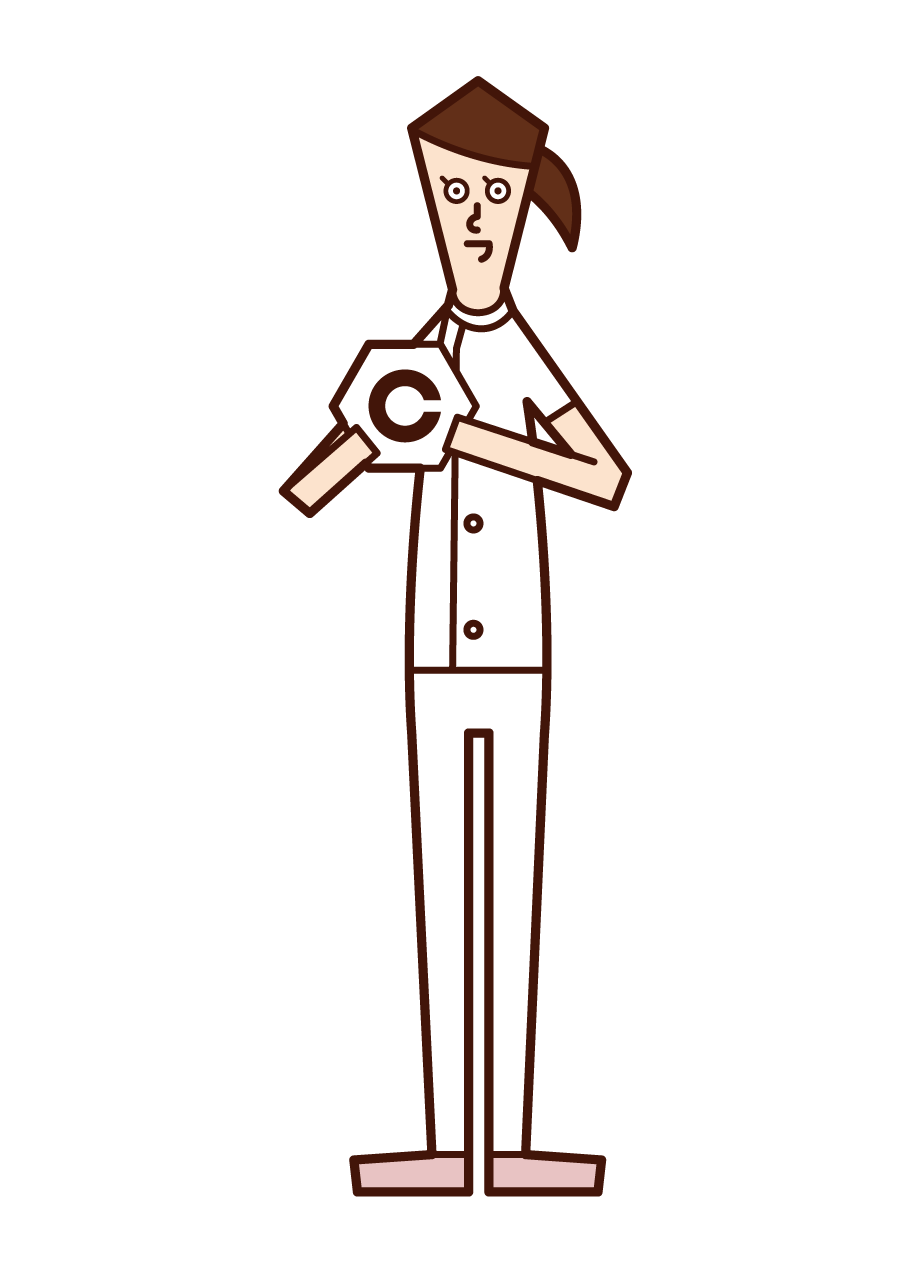 Illustration of a visual trainer (woman)