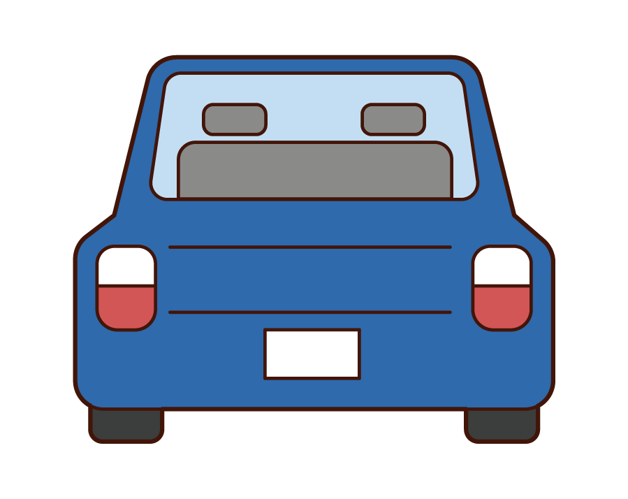 Illustration of the car seen from behind