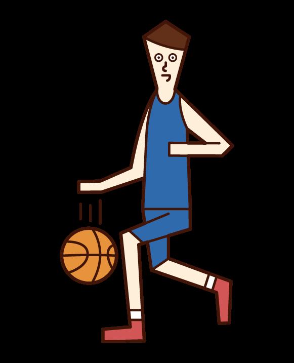 농구 선수(남성)의 일러스트