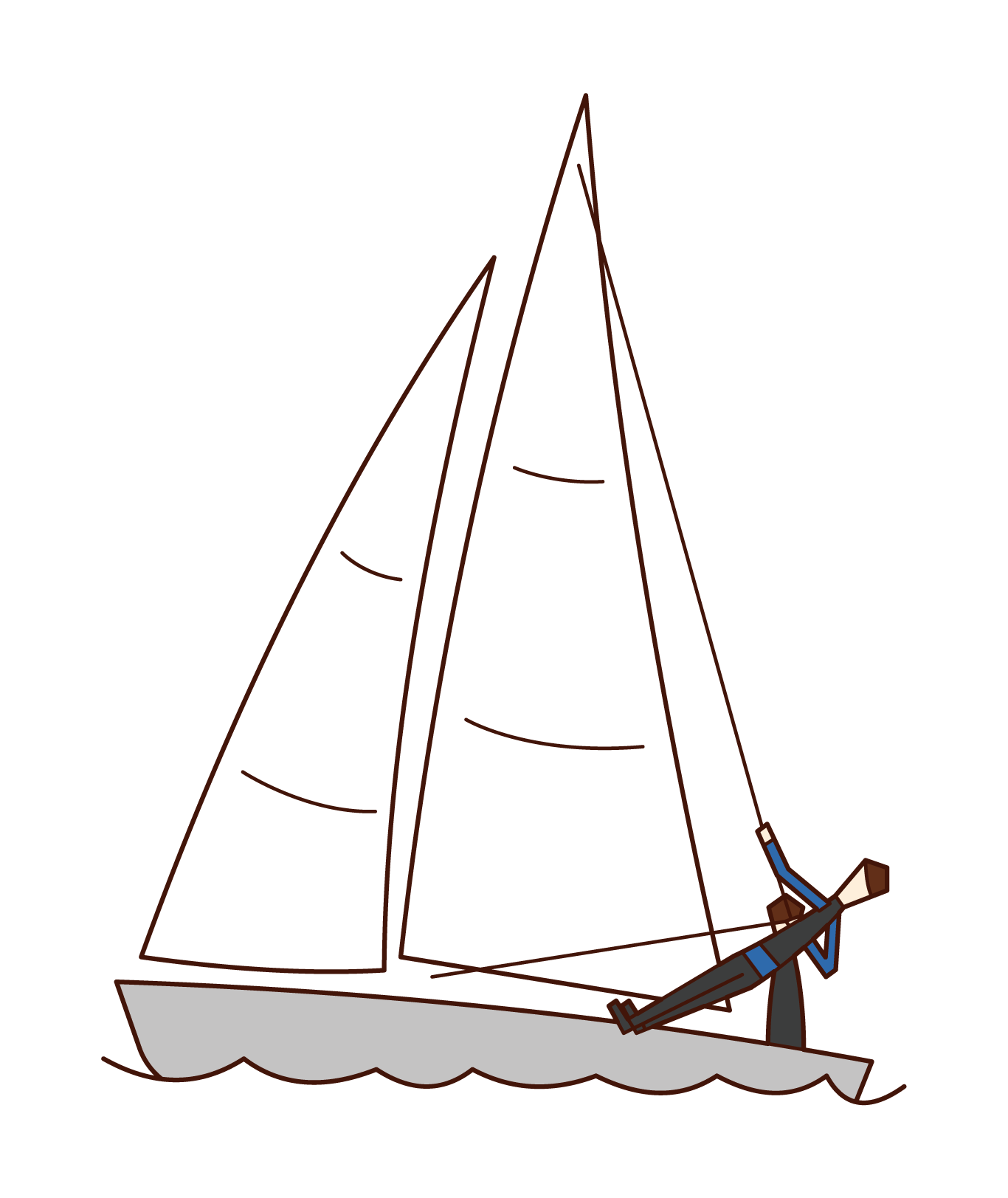 Illustration of sailing players