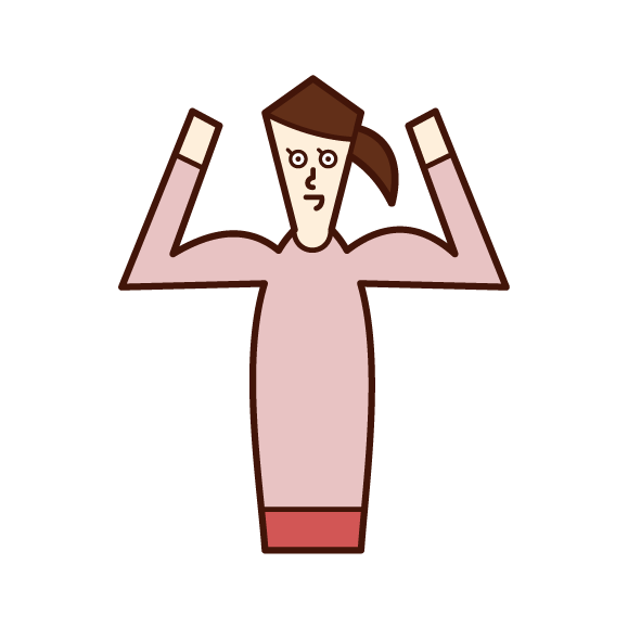 Illustration of a strong man (woman)
