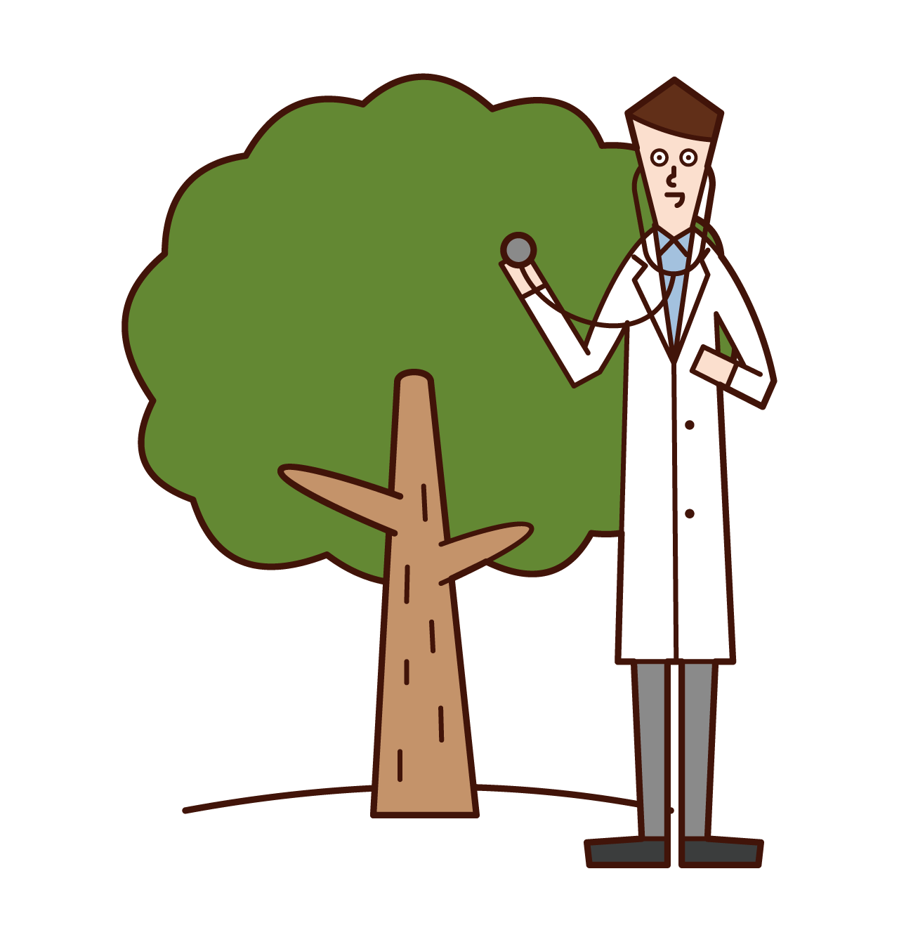 Illustration of a tree doctor (man)