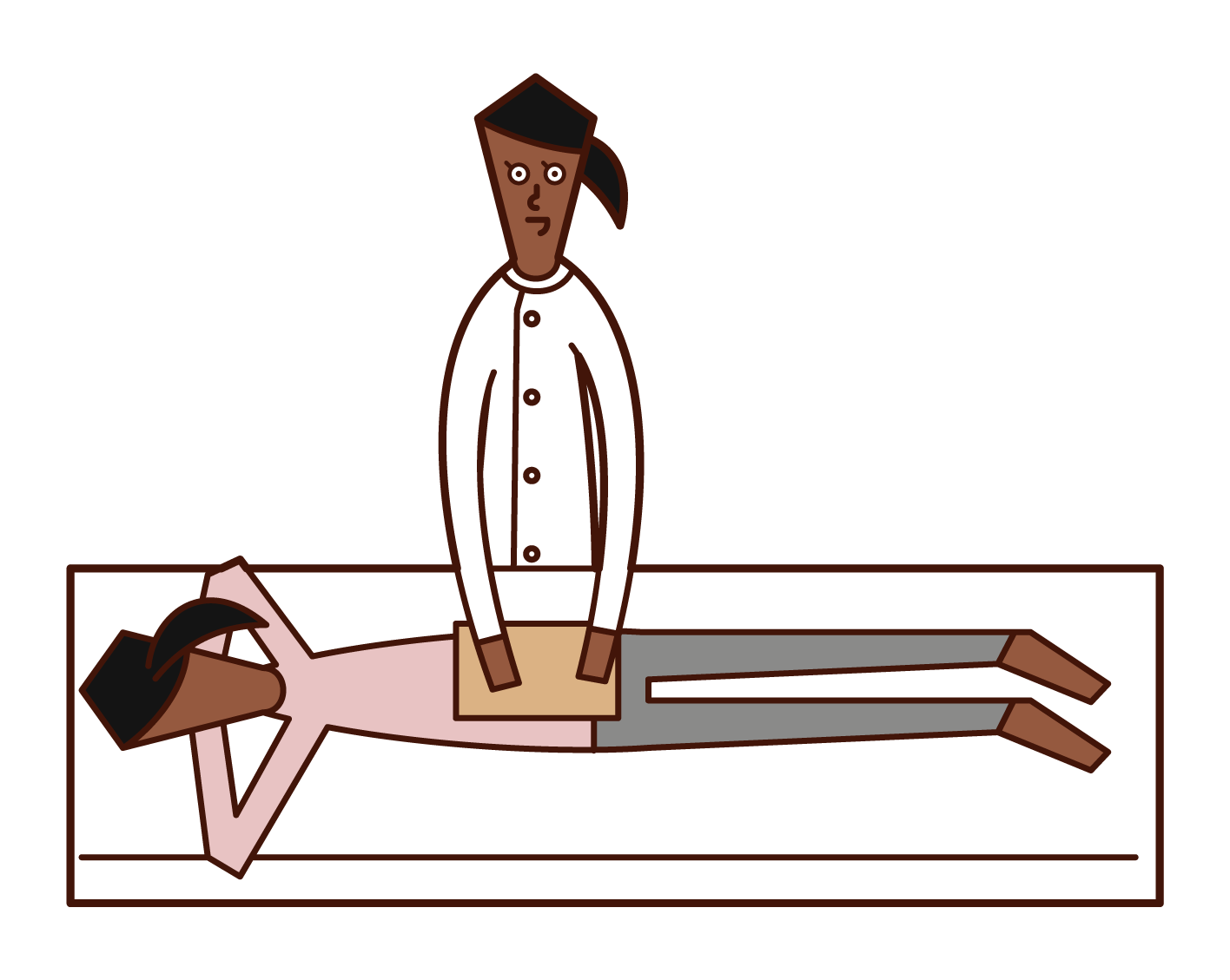 물리치료사, 안마 마사지 지압 교사, 유도 테라피스트(여성) 일러스트