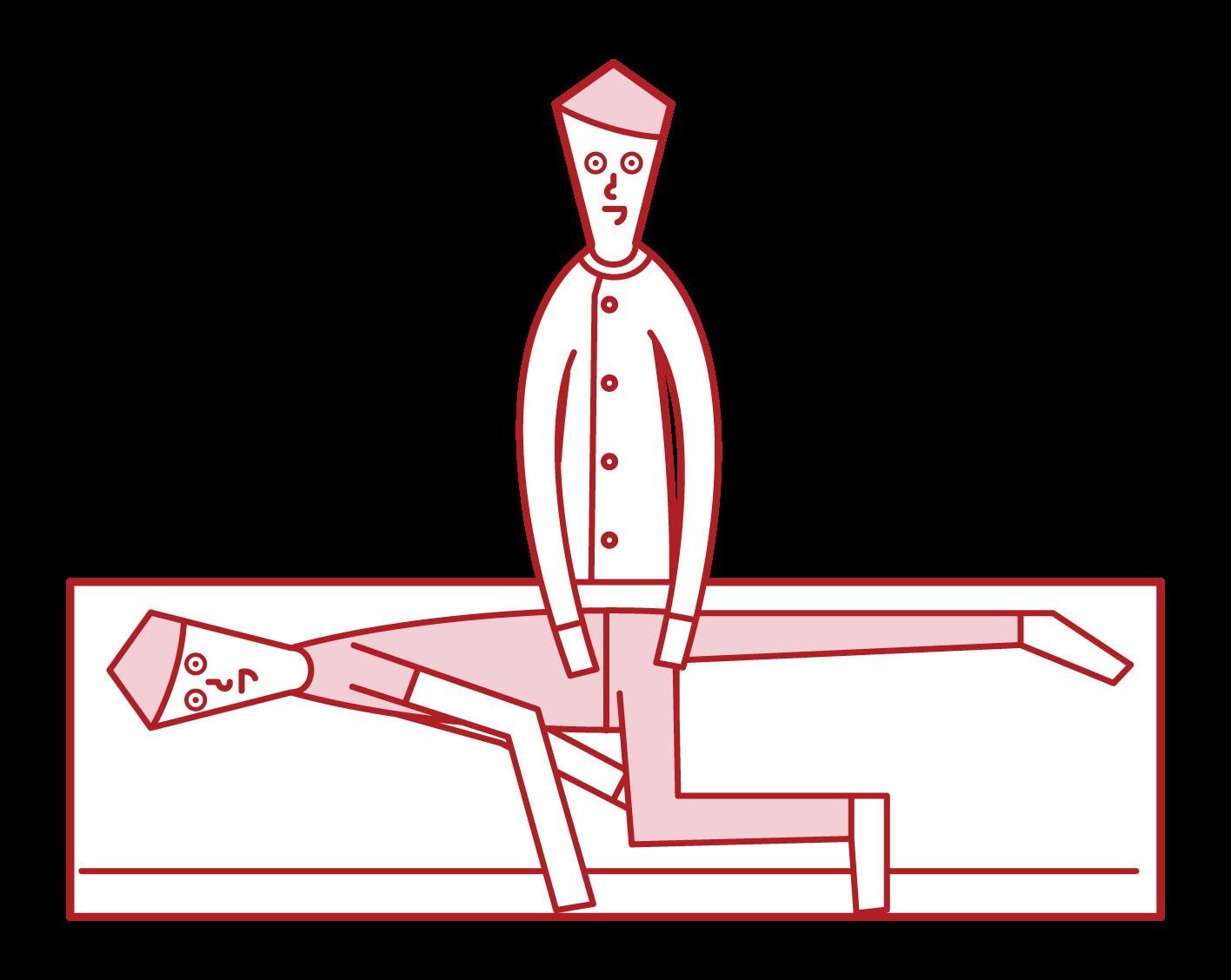 整体師(男性)のイラスト