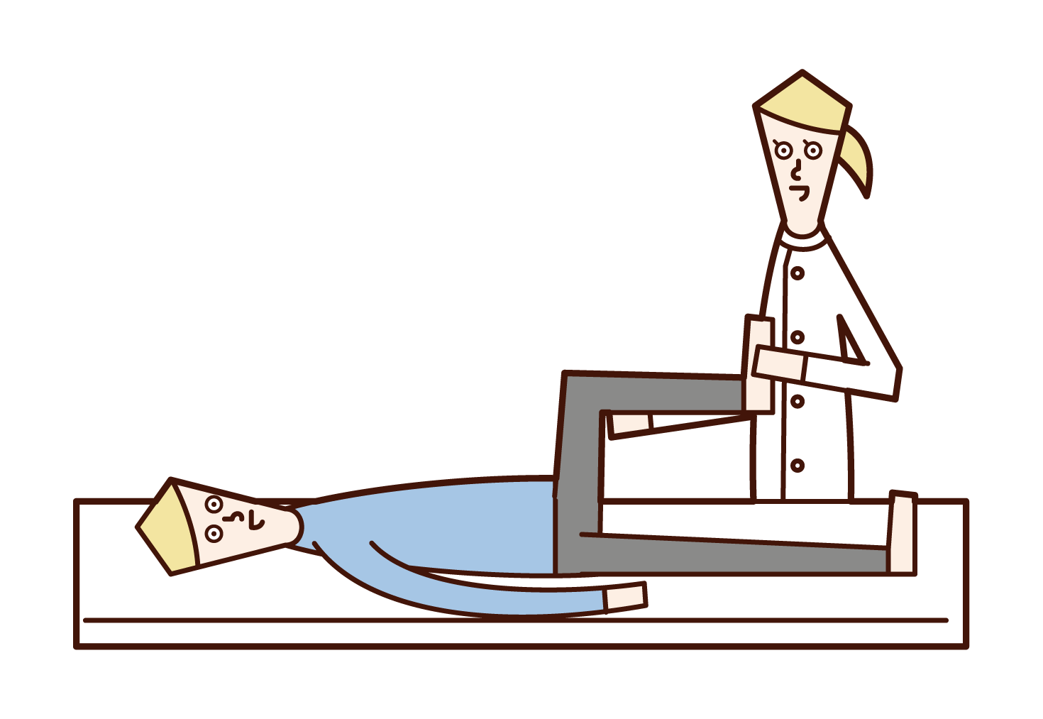 Illustration of a physical therapist (woman)