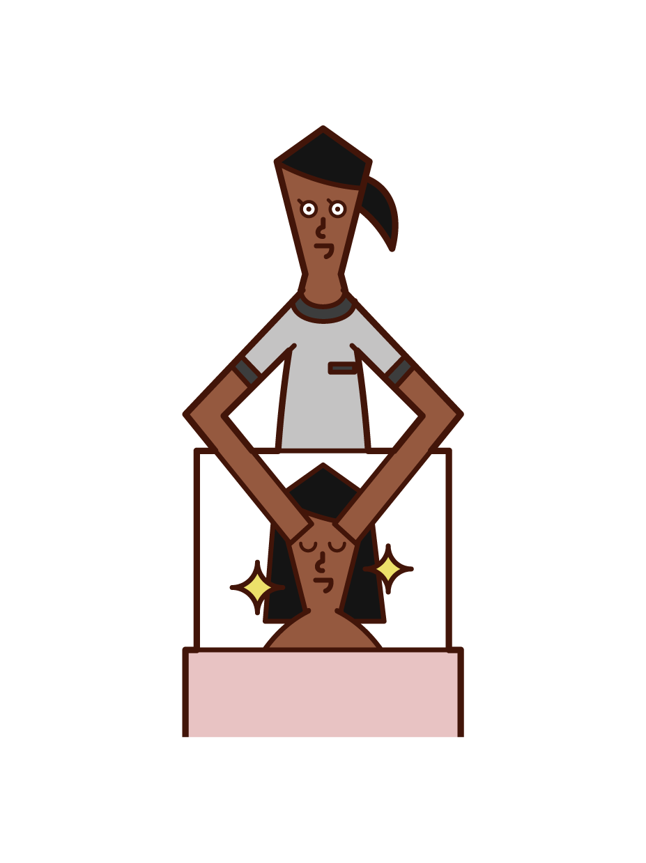 Illustration of an esthetician (woman) who is doing the treatment