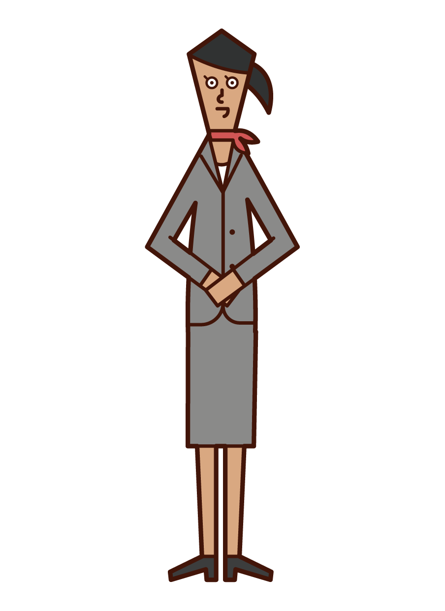 Illustration of a receptionist (woman)