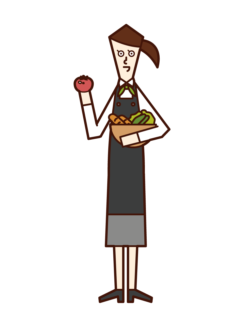 Illustration of vegetable sommelier (female)