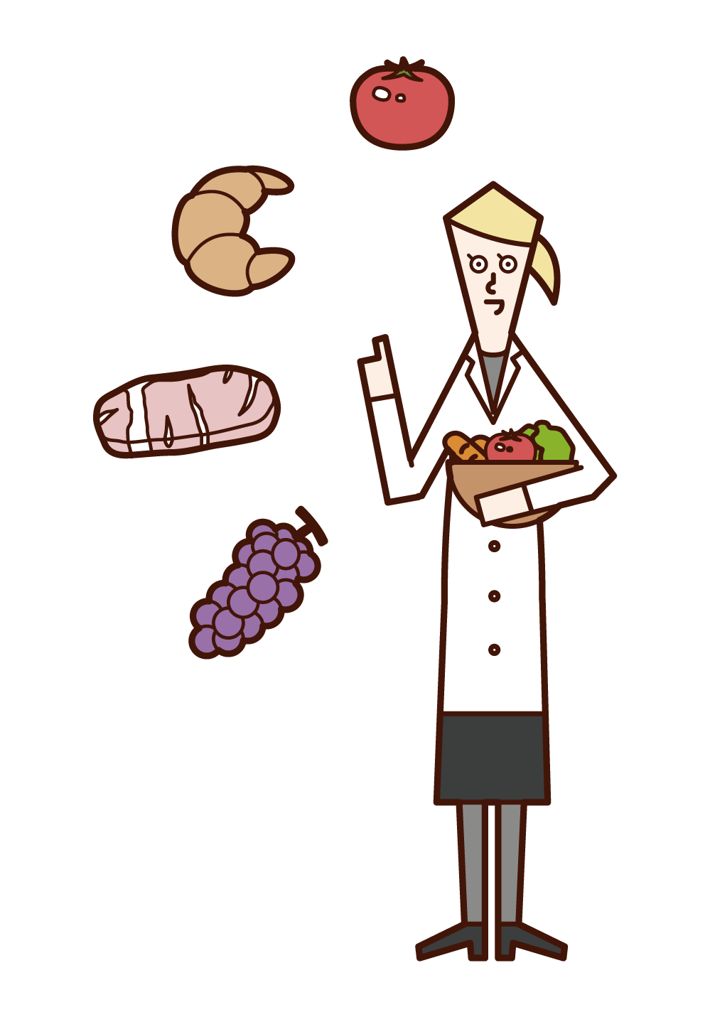 Illustration of a nutritionist (woman)
