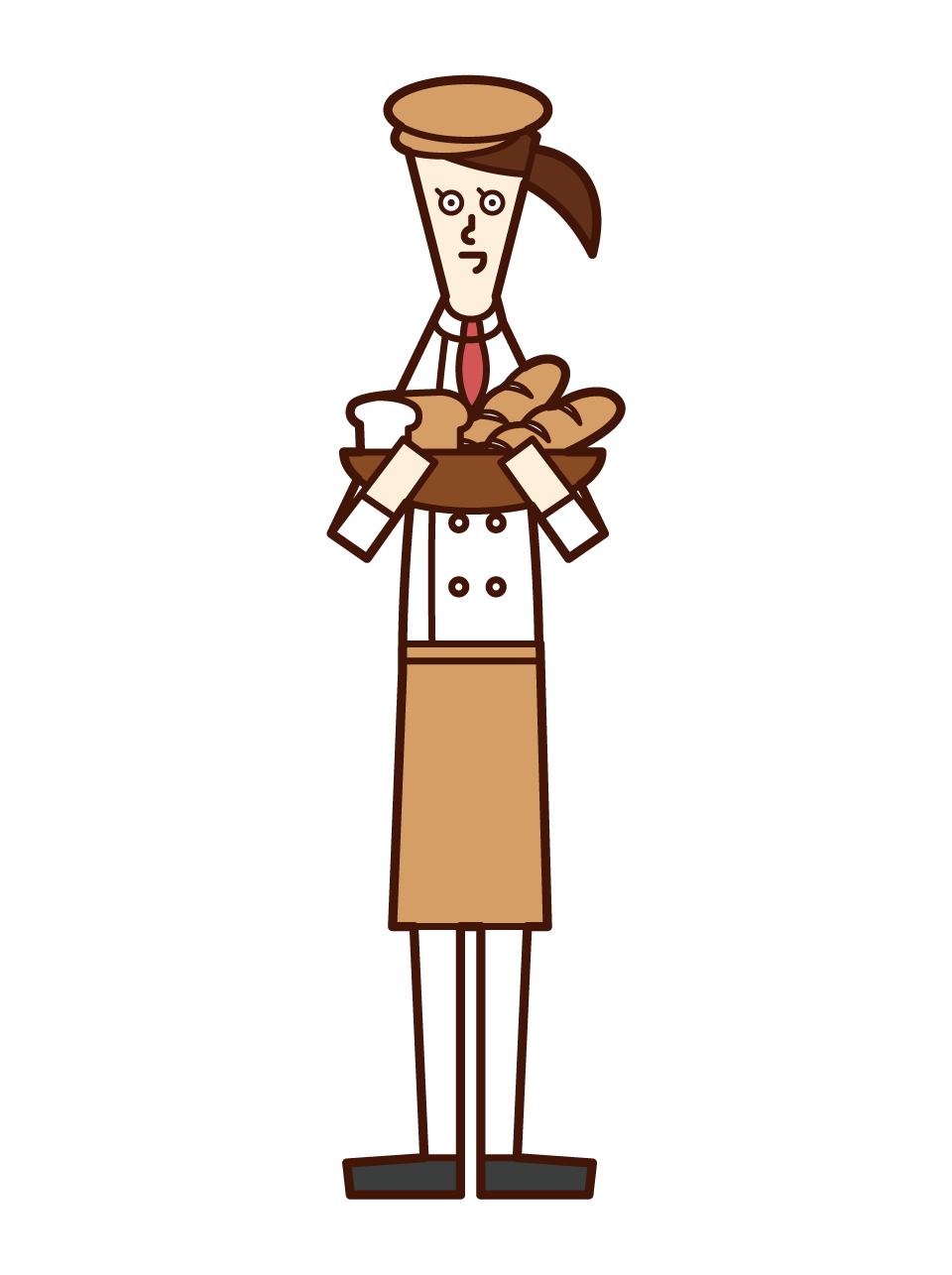 Illustration of a baker (female)