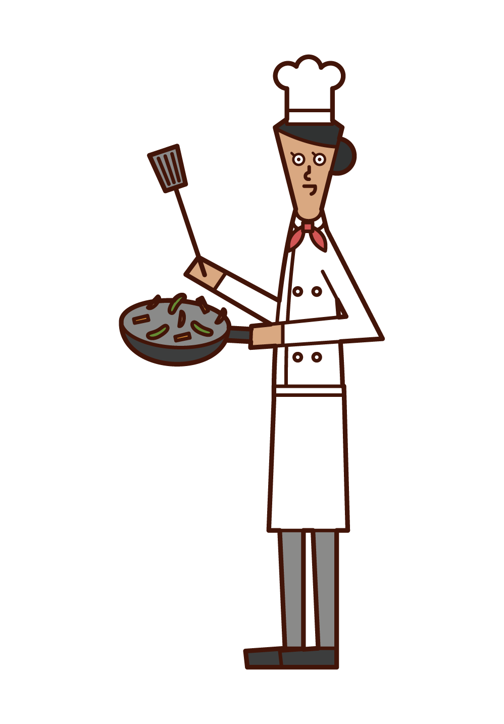 Illustration of a chef and cook (woman)