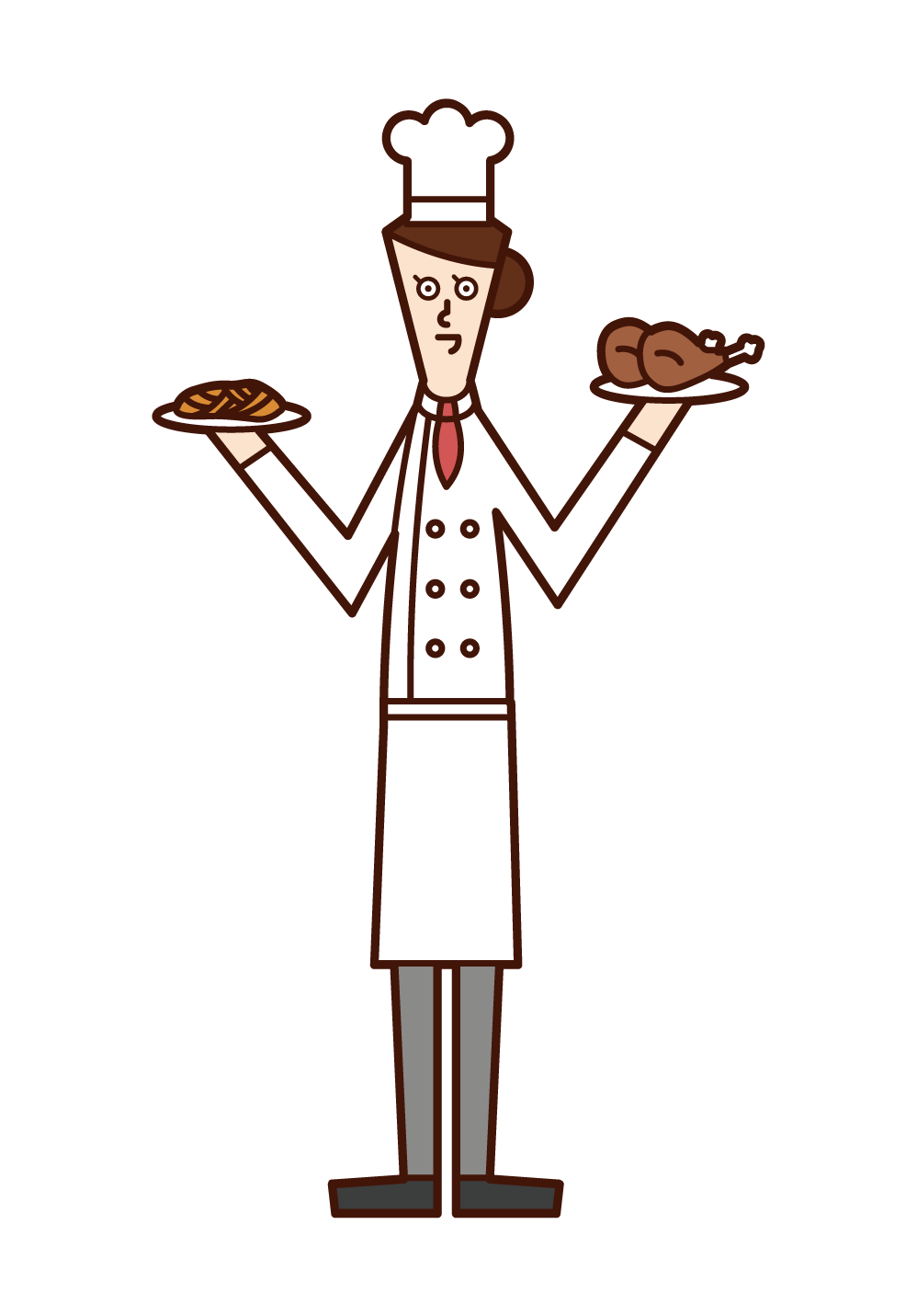 Illustration of chef and cook (man)