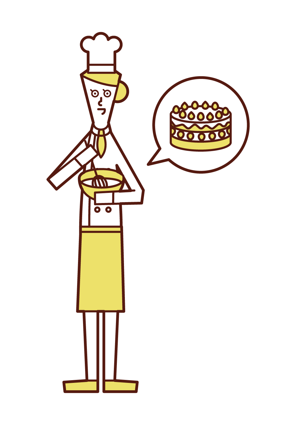 Illustration of a patissier (woman)