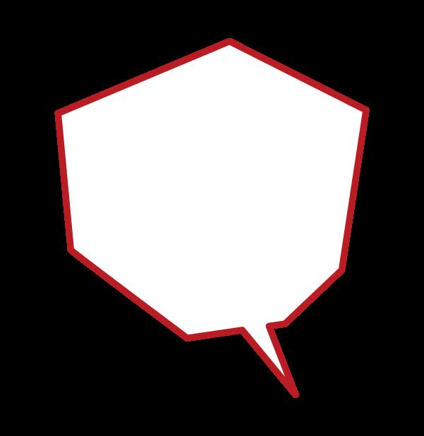 Illustration of a angular balloon