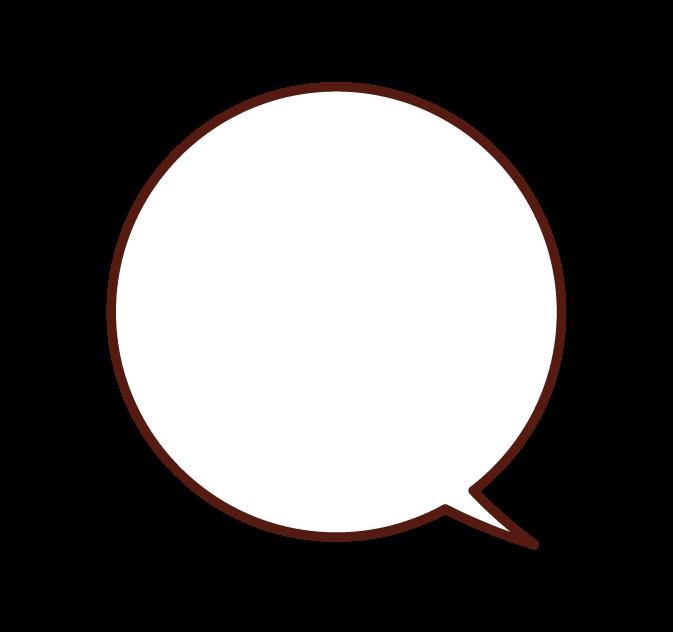 圓形氣球插圖
