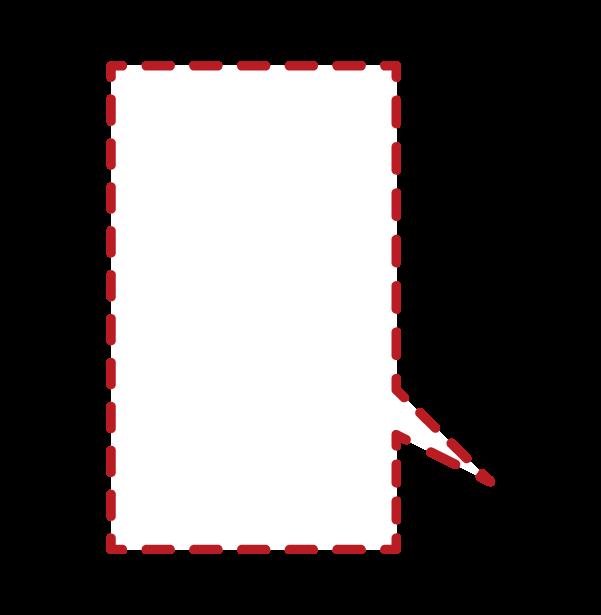 点線の吹き出しのイラスト