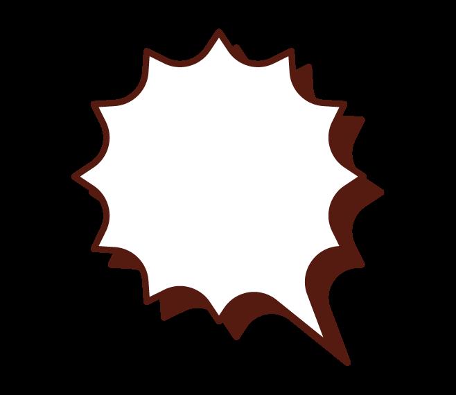 날카로운 모양의 콜아웃 그림