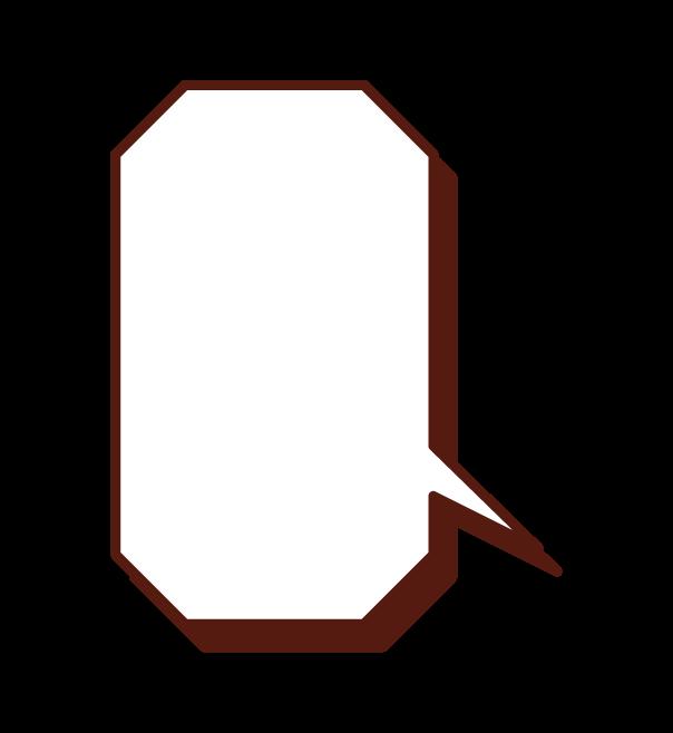 八角形標注插圖