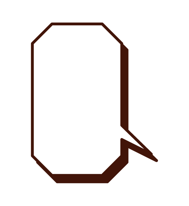 Octagonal callout illustration