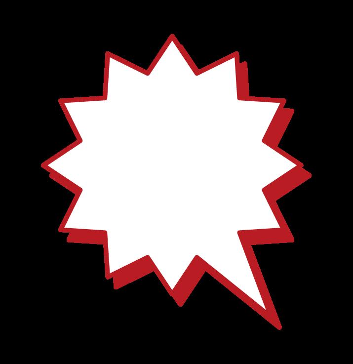 尖形氣球的插圖