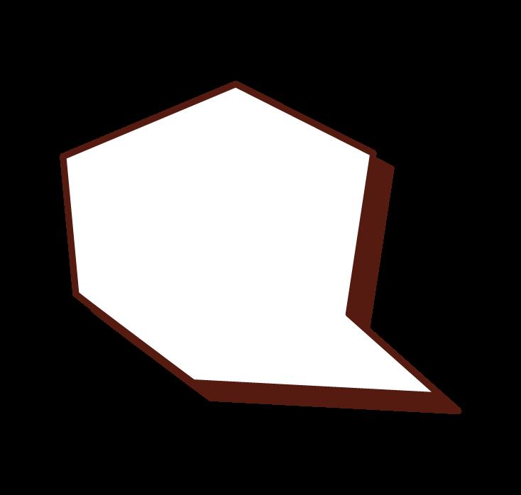 方形氣球插圖