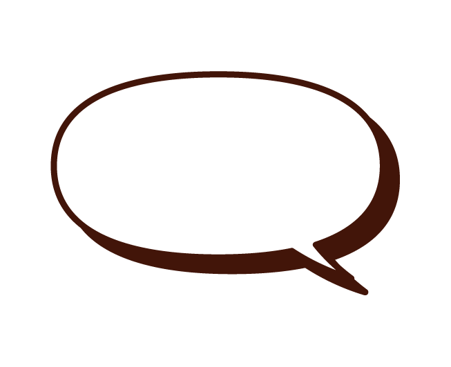 Illustration of a normal speech balloon