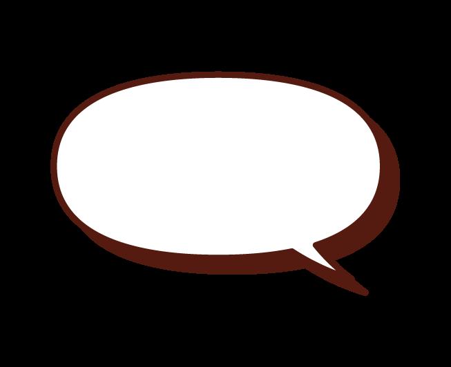 Illustration of a normal speech balloon