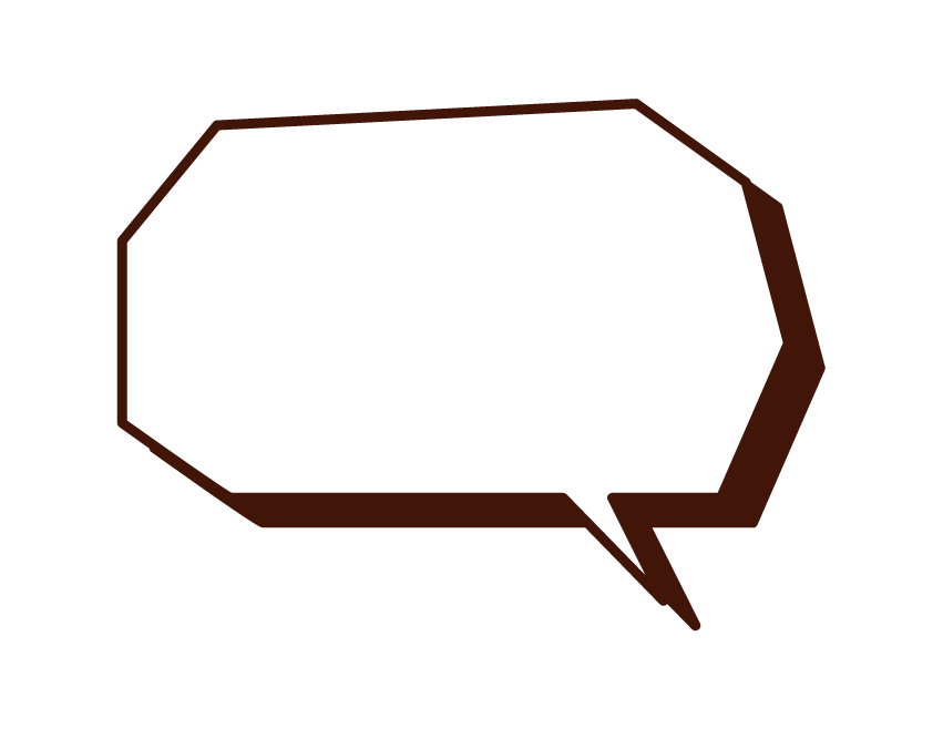 Illustration of a polygonal speech balloon