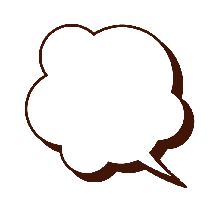 Illustration of a cloud-shaped speech balloon