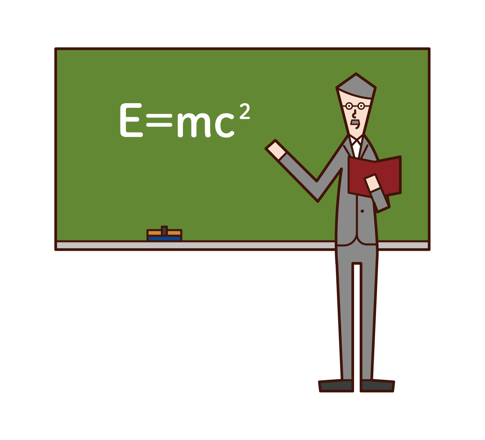 Illustration of a physicist (man)