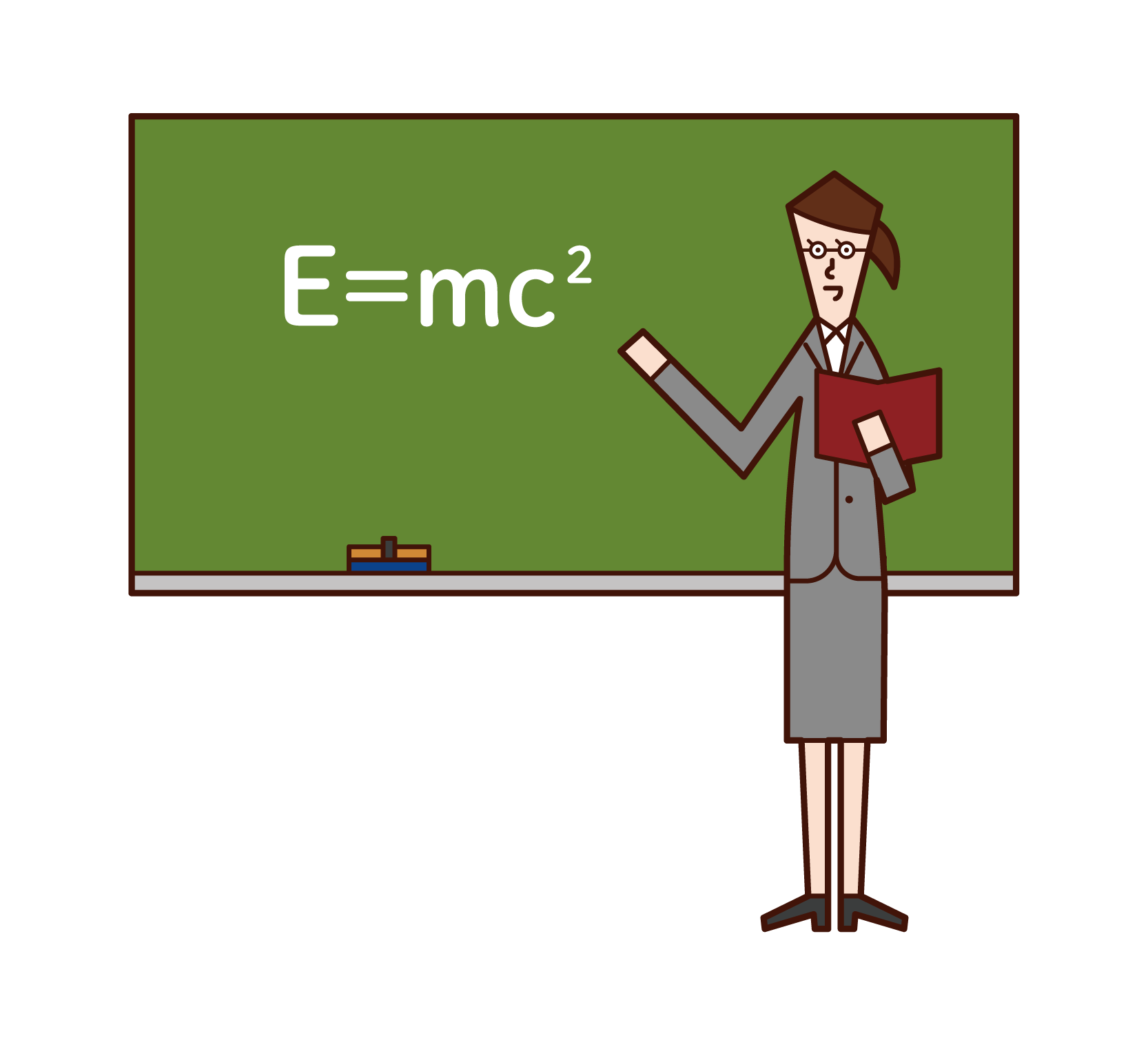 Illustration of a physicist (woman)