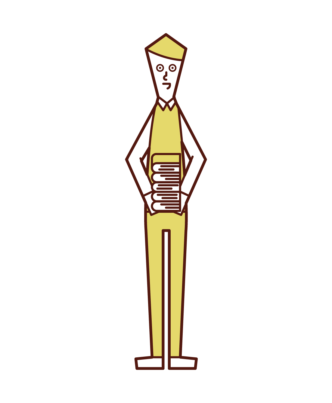 Illustration of a librarian (man)