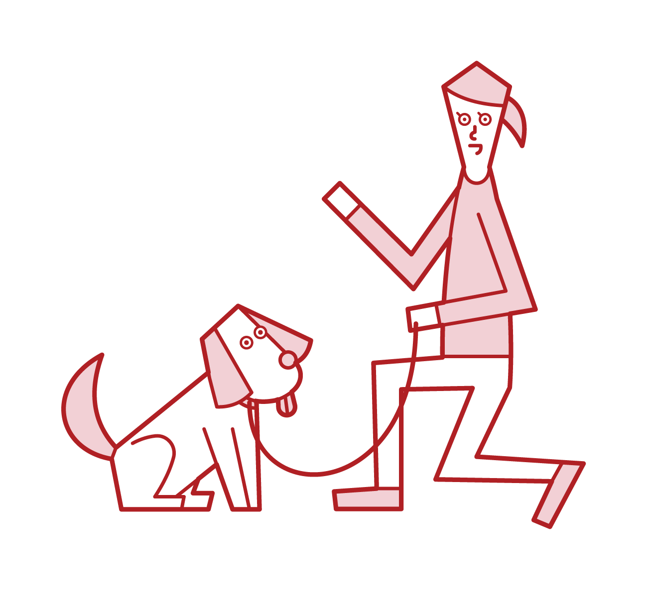 Illustration of a pet sitter (woman)