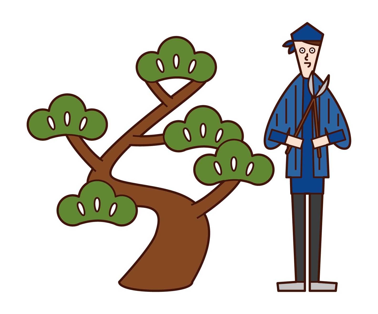 Illustration of a gardener (man)