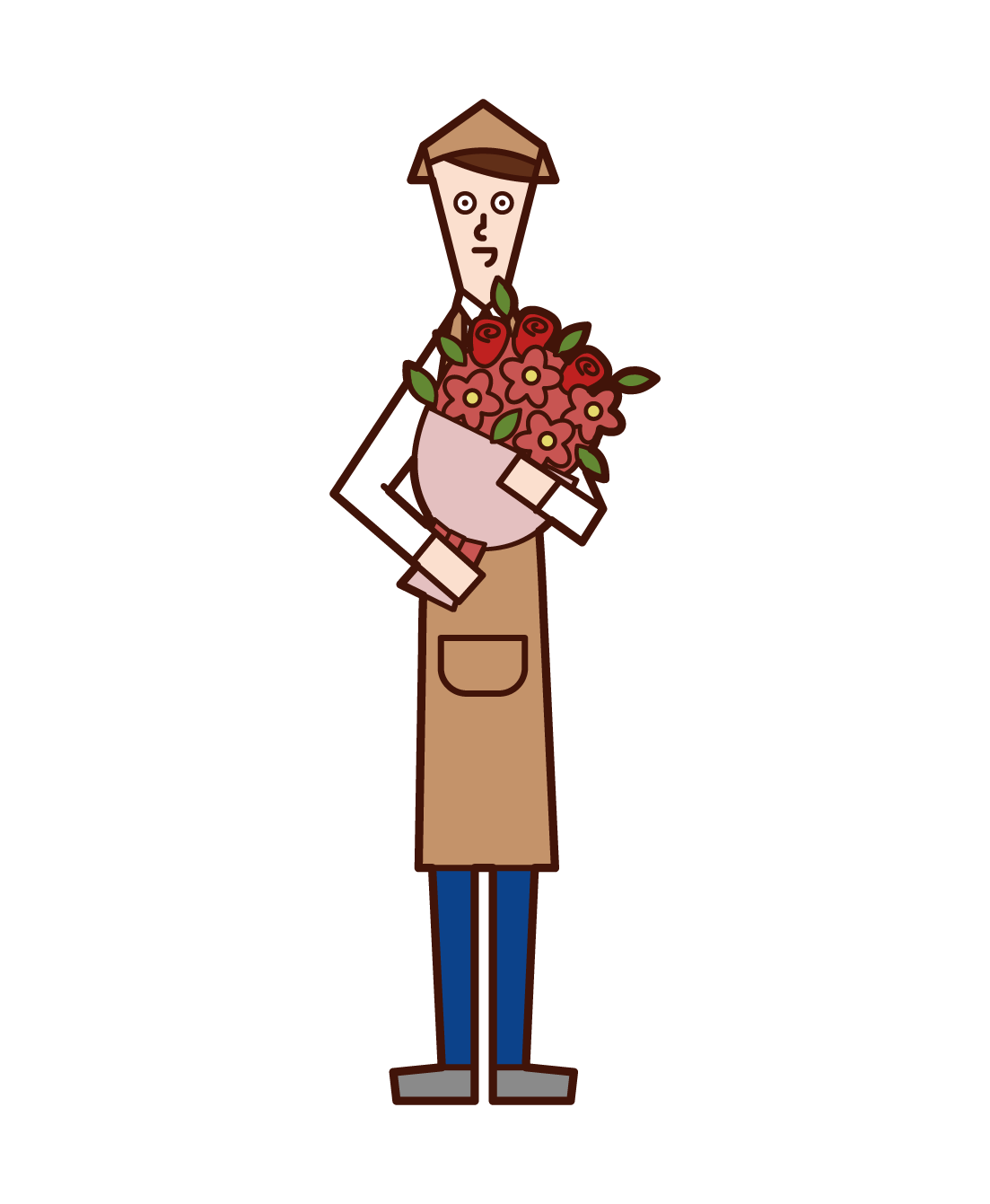 Flower Coordinator (man) Illustration